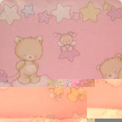 Постельный комплект Ассоль Сменный Мишки маленькие Розовый