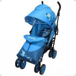Прогулочная коляска Bambini King с чехлом Blue Pirate