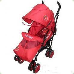 Прогулочная коляска Bambini King с чехлом Red Strawberry