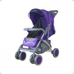 Прогулочная коляска Bambini King с чехлом Violet Butterfly