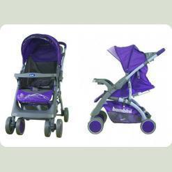 Прогулочная коляска Bambini Mars с чехлом Violet Butterfly