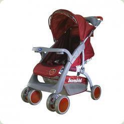 Прогулочная коляска Bambini Neon с чехлом Red Strawberry