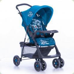 Прогулочная коляска Bertoni Star с чехлом на ножки Blue Captain