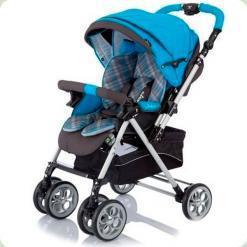 Прогулочная коляска Capella S-802 Синяя Клетка