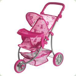 Прогулочная коляска для куклы Dendi 9377B-T