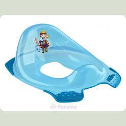 "Прозрачная накладка на унитаз с блеском ""Prince"" - синий"
