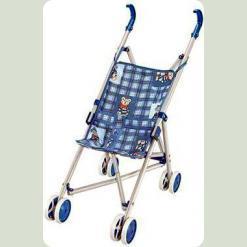 PZ-3467A/FL6071 Коляска-трость для кукол летняя, голубая
