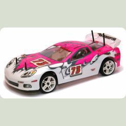 Радиоуправляемая шоссейная модель1:10 Himoto NASCADA HI5101 Brushed (розовый)