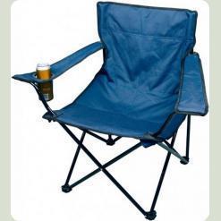 Раскладной стул Stenson Паук с подстаканником OS-1824 Синий