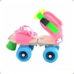 Раздвижные ролики Profi MS 0053 Розовый
