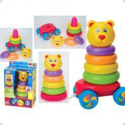 Развивающая игрушка Fun Time Каталка-пирамидка Тэдди (5005FT)
