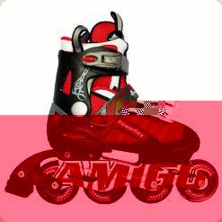 Ролики Amigosport Powerflex M3 34-37 р. Красный