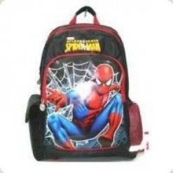 """Рюкзак школьный """"Человек-паук """" черный твёрдая спина"""