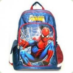 """Рюкзак школьный """"Человек-паук """" синий твёрдая спинка"""
