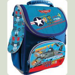 """Рюкзак школьный ортопедический каркасный """"Planes"""" со съемной пластиковой вставкой"""
