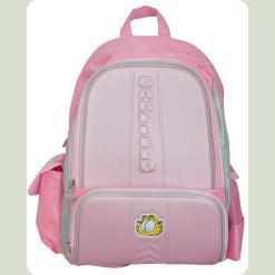 """Рюкзак школьный розовый """"Гарфилд"""" твёрдая спинка"""