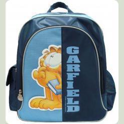 """Рюкзак школьный синий """"Гарфилд"""" твёрдая спина"""