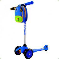 Самокат Ecoline Bliss с сумкой и фонариком Синий