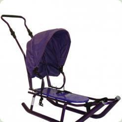 Санки Anmar Active (рег.ручка+капюшон) фиолетовый