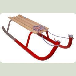Санки Kimet для взрослых (серый с красным)