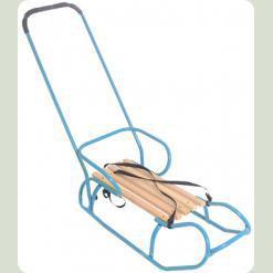 Санки OMMI со спинкой и ручкой Синий