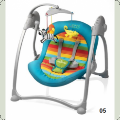 Шезлонг Baby Design Loko-05 (turq.)