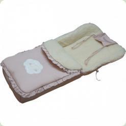 Спальный мешок Ассоль на овчине Кремовый