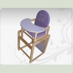 Деревяный стульчик Омми для кормления синего цвета