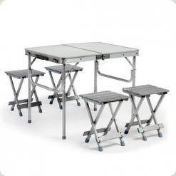 Стол-чемодан Stenson с четырьмя стульями 100х69х72 см (HXPT-8828-F)