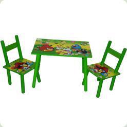Столик Baby Tilly W02-5150-1 с двумя стульчиками Angry Birds