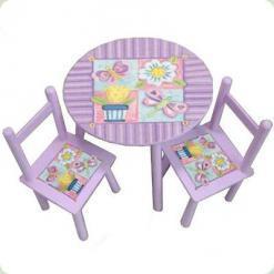 Столик Baby Tilly W02-883(H916) с двумя стульчиками