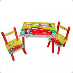 Столик Bambi M 0292 Тачки с двумя стульчиками