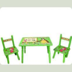 Столик Bambi M 0295 Маша деревянный с двумя стульчиками