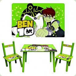Столик Bambi M 0489 Ben 10 с двумя стульчиками