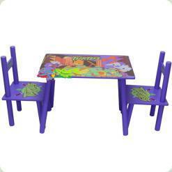 Столик Bambi M 0709 с двумя стульчиками Черепашки ниндзя