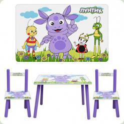Столик Bambi M 1432 с двумя стульчиками Лунтик