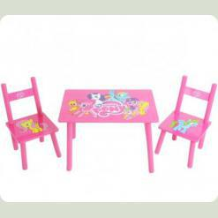 Столик Bambi M 1522 с двумя стульчиками My Little Pony