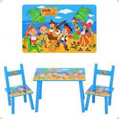 Столик Bambi M 1700 с двумя стульчиками Джейк и Пираты