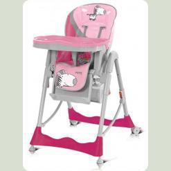 Стульчик Baby Design Pepe-08 (зебра-роз.)