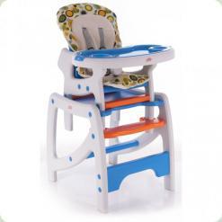 Стульчик для кормления Babycare Duo Blue/Orange (c903)