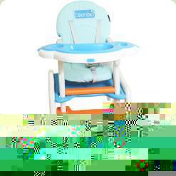 Стульчик для кормления Bambi M 1563-1-4 Бело-голубой