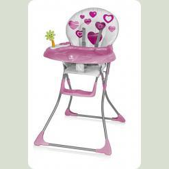 Стульчик для кормления Bertoni CANDY (pink hearts)