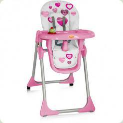 Стульчик для кормления Bertoni Yam-Yam Pink Hearts