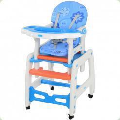Стульчик-трансформер Bambi M 1563-1-4 Бело-голубой
