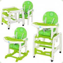 Стульчик-трансформер Bambi M 1563-5 Бело-зеленый