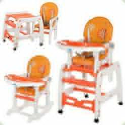Стульчик-трансформер Bambi M 1563-7 Оранжево-белый