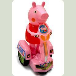 Свинка на бат. Peppa Pig на мотоциклі