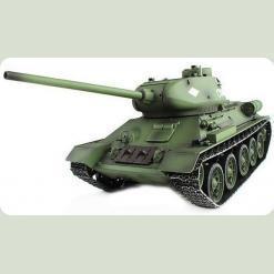 Танк р/у 2.4GHz 1:16 Heng Long T-34 в металле с пневмопушкой и дымом (HL3909-1PRO)