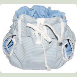 Тканевый подгузник на завязкахПолосы светло-голубой/белый
