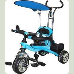 Трехколесный велосипед Profi Trike M 0697-D EVA Foam Темно-синий